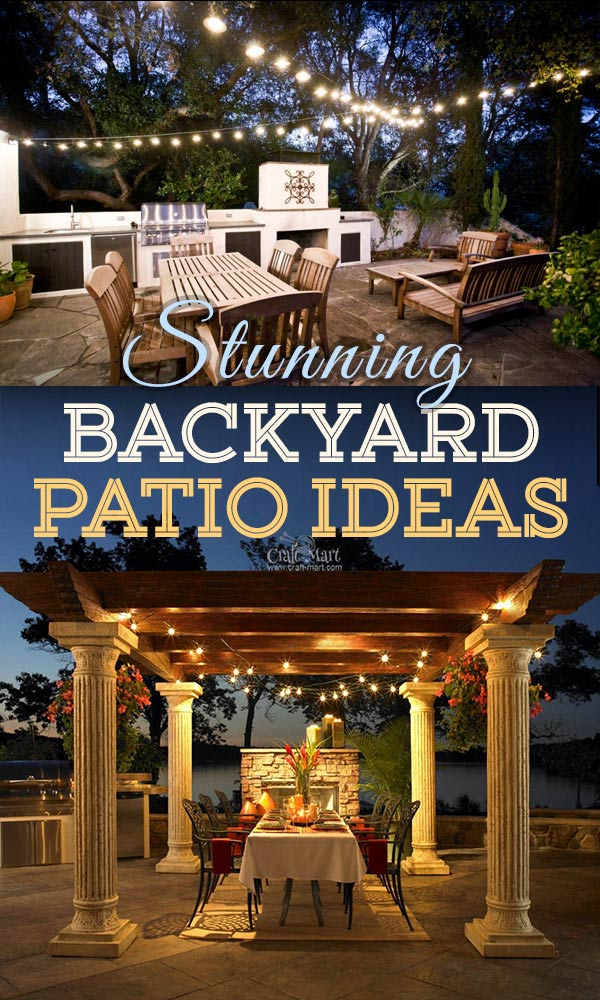 The best backyard patio designs with outdoor ceiling lights that may help with your own patio ideas or outdoor landscape lighting. Perfect for small backyard patios. #outdoorspace #outdoordecor #outdoorspaces #patiodecor #patio