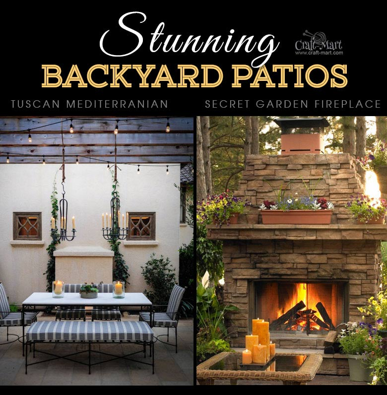 Tuscan and rustic backyard patio lighting solutions. One of the best backyard patio designs with outdoor ceiling lights that may help with your own patio ideas or outdoor landscape lighting. Perfect for small backyard patio. #outdoorspace #outdoordecor #outdoorspaces #patiodecor #patio
