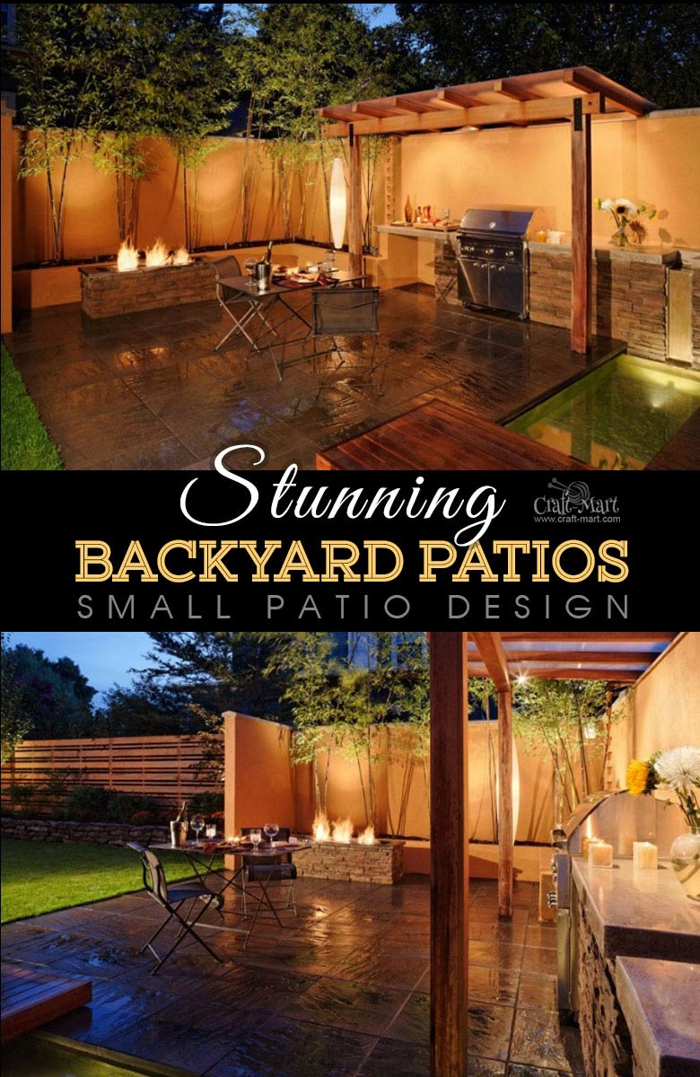One of the best backyard patio designs with outdoor ceiling lights that may help with your own patio ideas or outdoor landscape lighting. Perfect for small backyard patio. #outdoorspace #outdoordecor #outdoorspaces #patiodecor #patio
