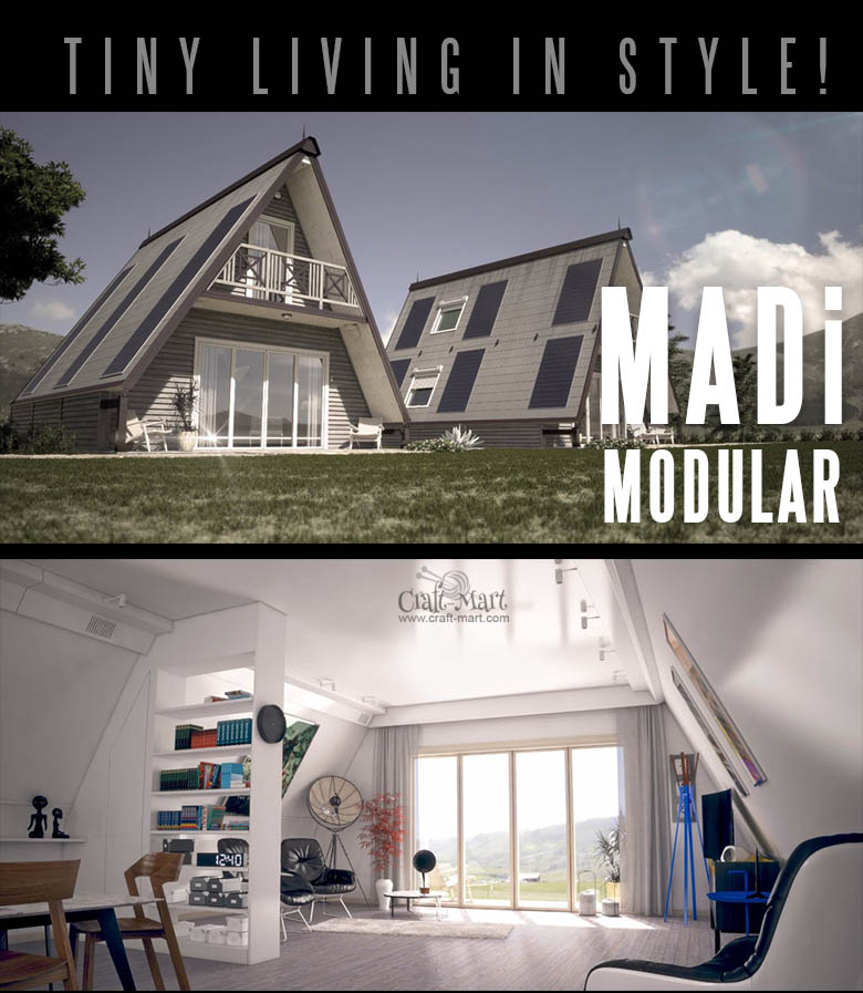 These modular prefab MADi homes are simply gorgeous! It is extendable and can be erected in one day!