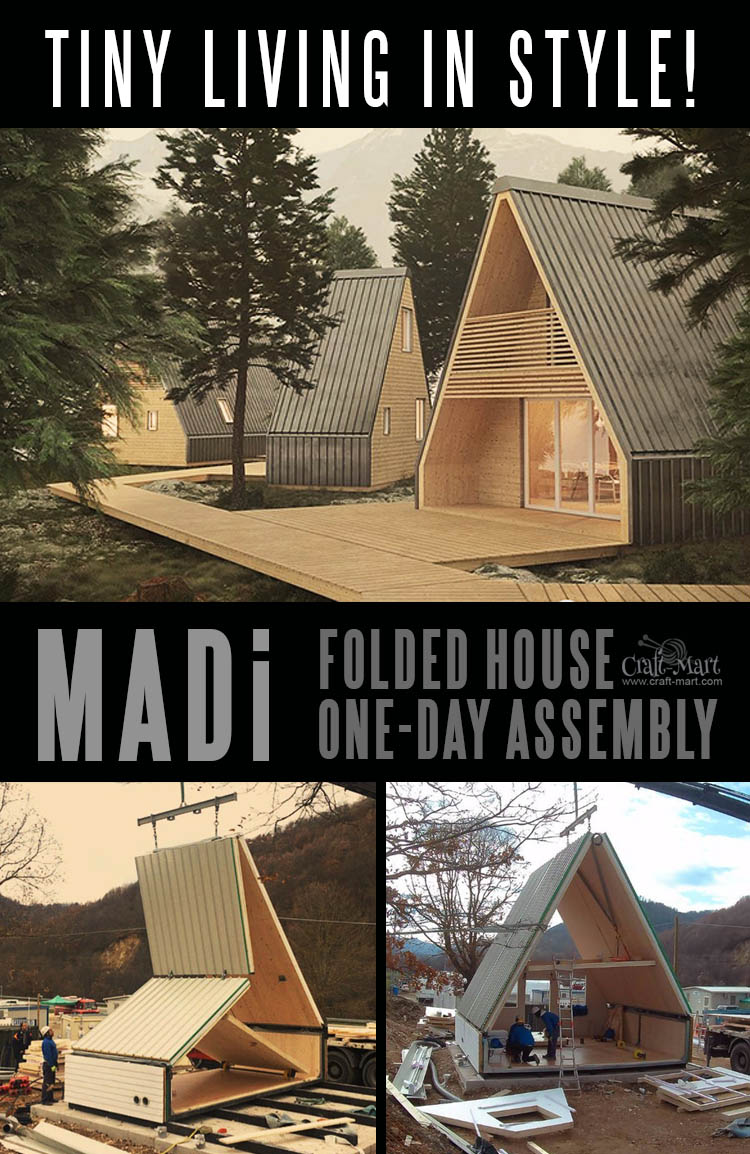 This MADi home can be assembled in one day! One single module of roughly 300 SQ FT can easily be extended to 600 SQ FT and beyond.