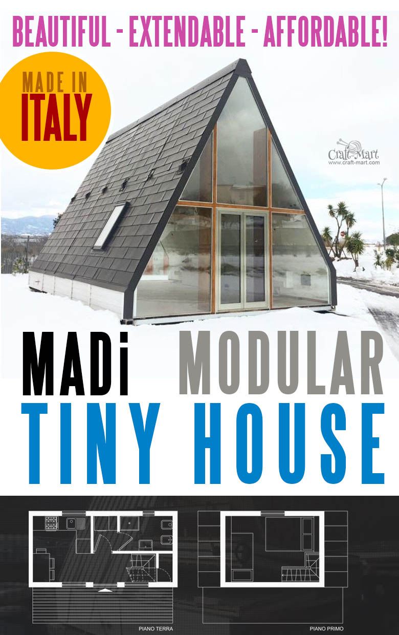 "This tiny MADi home model can be ""unfolded"" in one day to provide an affordable, high-quality living space quickly and easily. It is very durable, earthquake resistant"