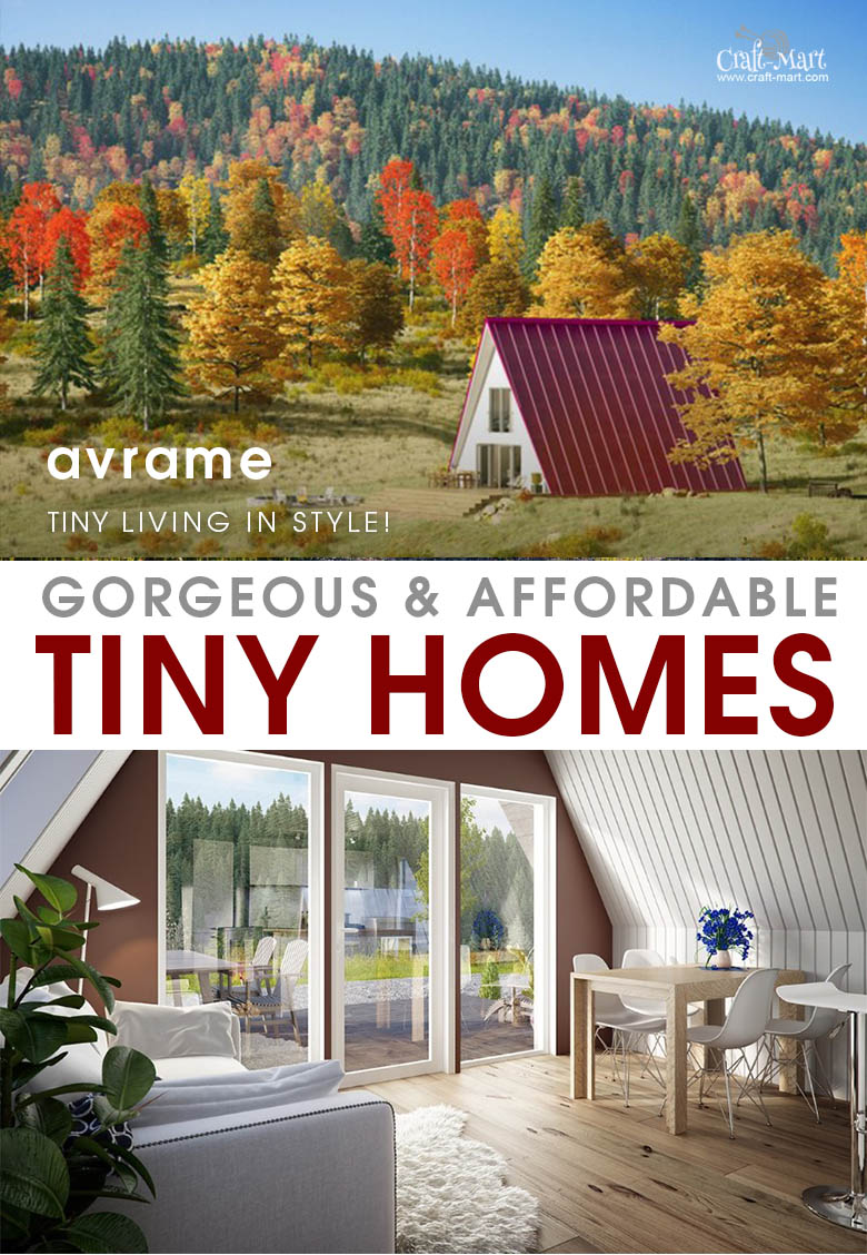 Avrame review. These prefabricated cottages are designed to be modular, efficient, beautiful, and elegantly modern. #tinyhouse #tinyhouseplans