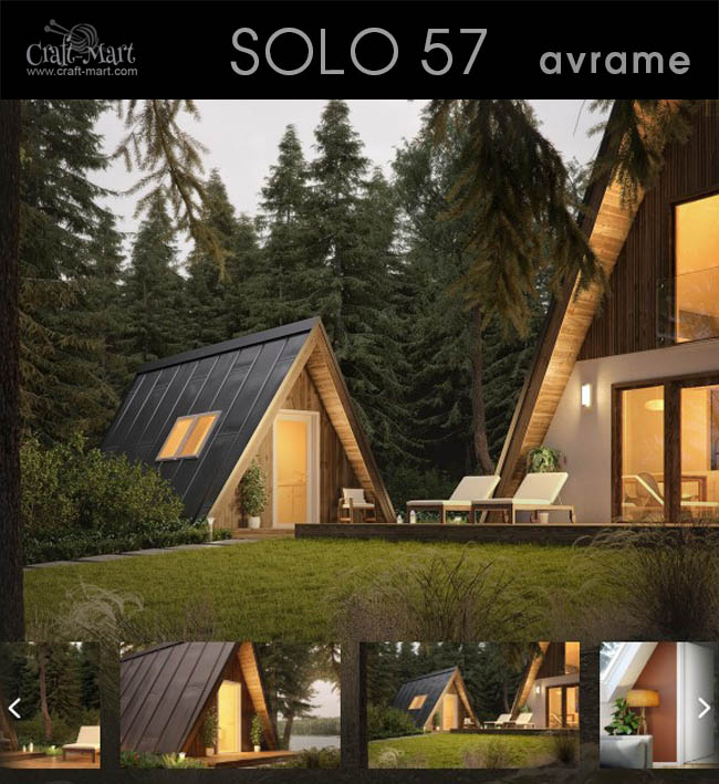 avrame solo - This tiny house can serve as a guest house or a sauna. Either way these prefab tiny homes look stunning!