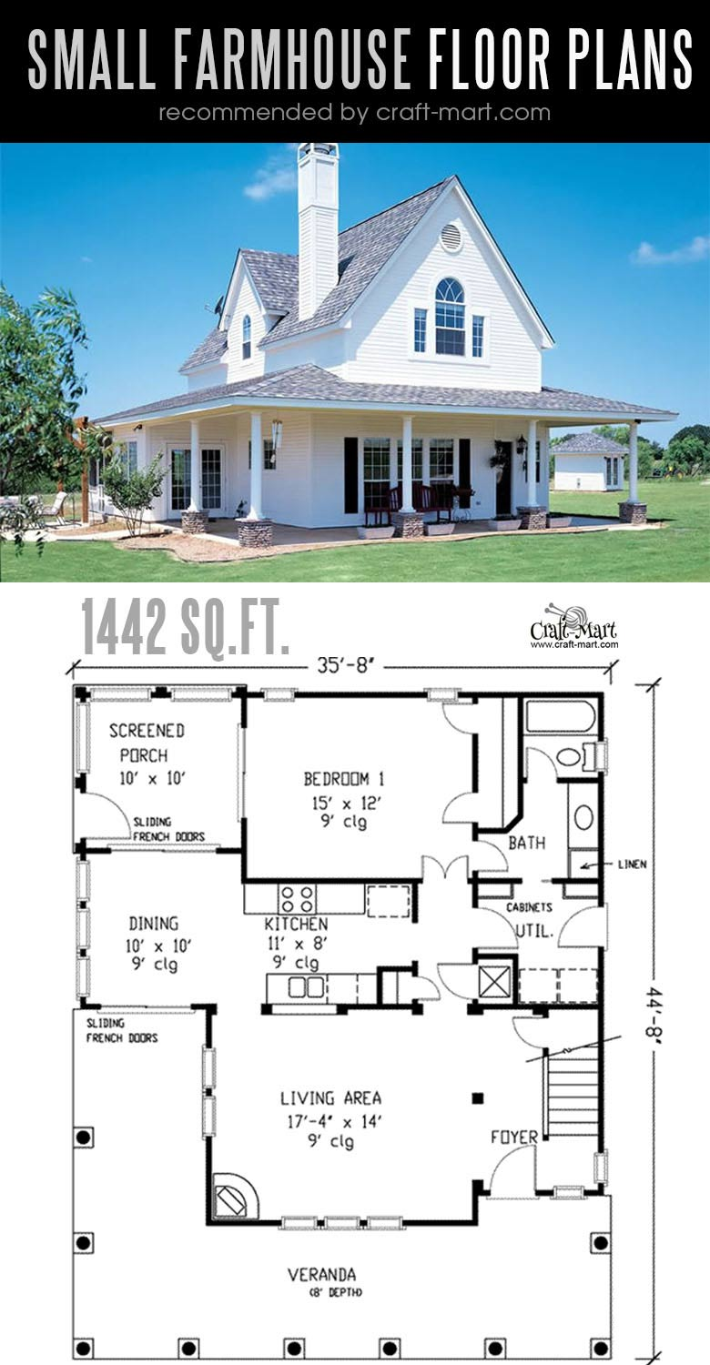 Designing and building a Traditional Small farmhouse can be a lot of fun! Look at the best small farmhouse plans that can fit almost any tight budget. Learn how you can design the best modern farmhouse and decorate it as a pro! #tinyhouse #farmhouse #rustic #diy