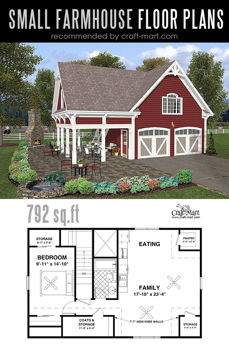 Modern Farmhouse with a Double Garage. Designing and building a farmhouse can be a lot of fun! Look at the best small farmhouse plans that can fit almost any tight budget. Learn how you can design the best modern farmhouse and decorate it as a pro! #tinyhouse #farmhouse #rustic #diy