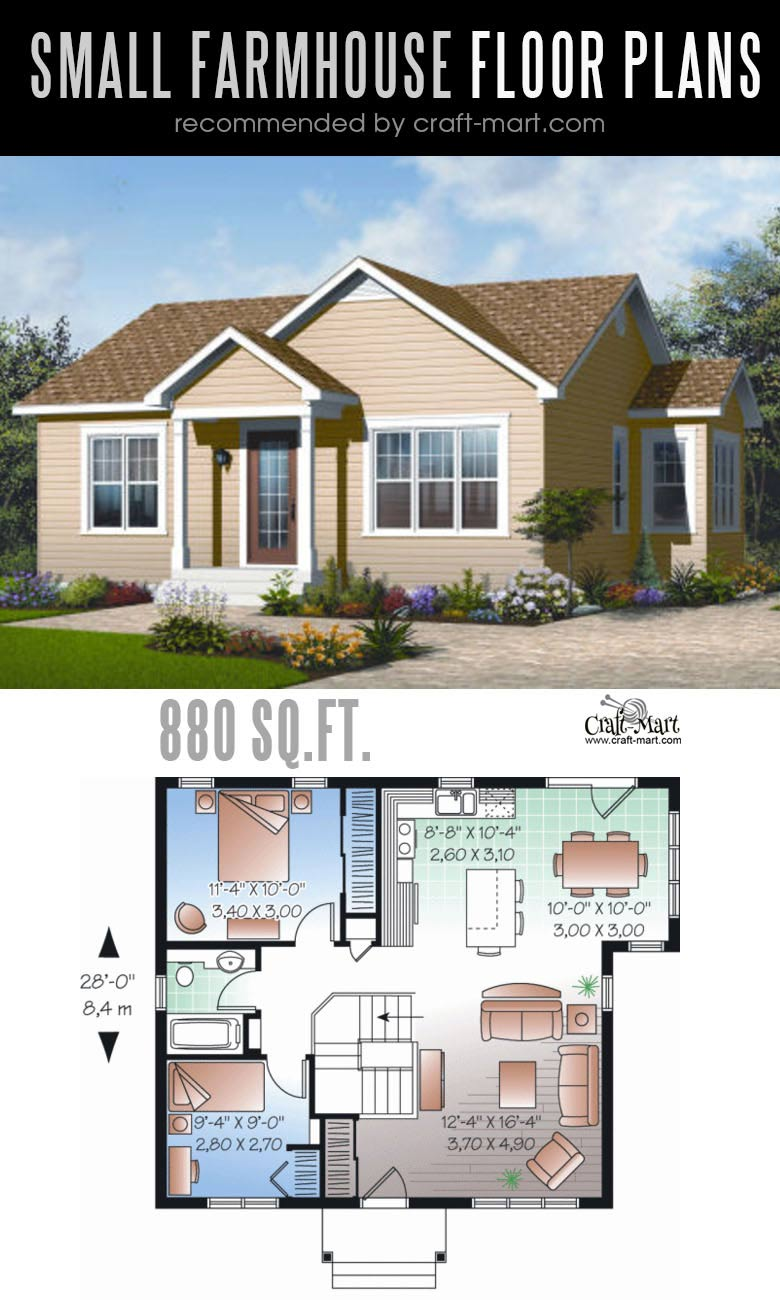 Small Home Plans: Small Farmhouse Plans For Building A Home Of Your Dreams