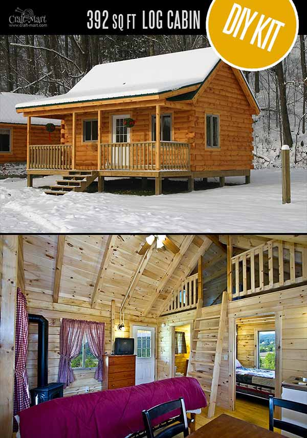 Timbertrail Log Cabin - quality small log cabin kits and pre-built cabins that you can afford! Choose from a few options of pre-built cabins to small log cabin kits that you'll be able to assemble in 3-4 weeks saving on labor close to 1/3 of the total cost. #tinyhouses #logcabins #countryliving