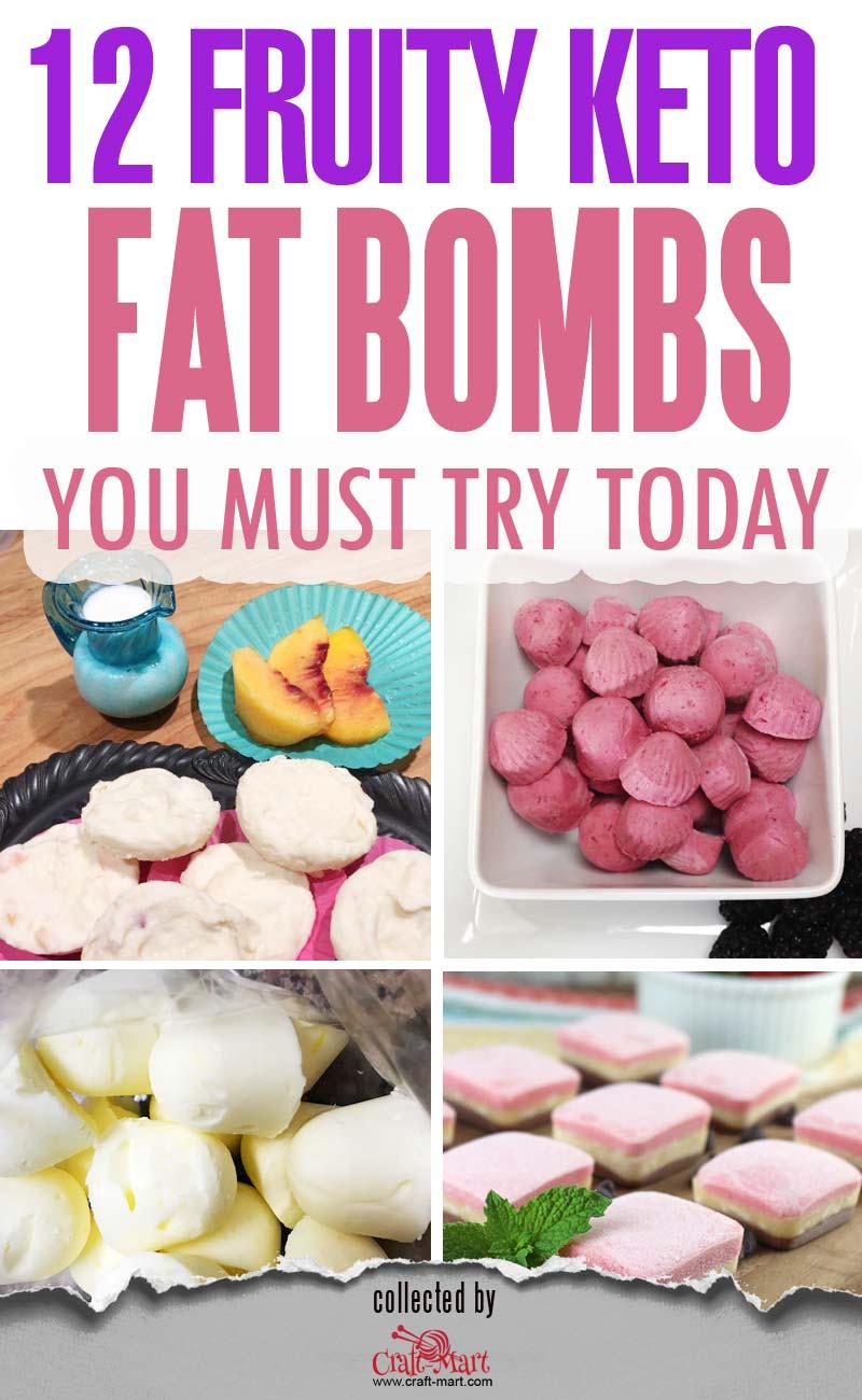 Keto Fruity Fat Bombs (and ultimate collection of 54 keto snacks) #ketofatbombs #ketodiet #easyfatbombrecipes #bestfatbombrecipes #highfatlowcarbsnacks #lowcarbsnack #ketosnack #peanutbutterfatbomb #lemonfatbombs #strawberrycheesecakefatbombs #chocolatecherryfatbombs