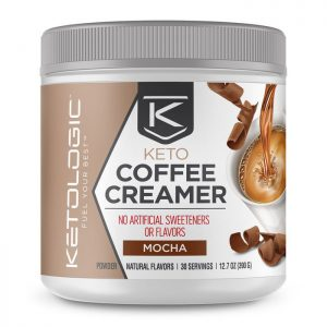 Get KetoLogic Coffee Creamer for your morning coffee to get your fat macros in for breakfast. These creamers have no artificial flavors or sweeteners, gluten-free, and are absolutely delicious!!!