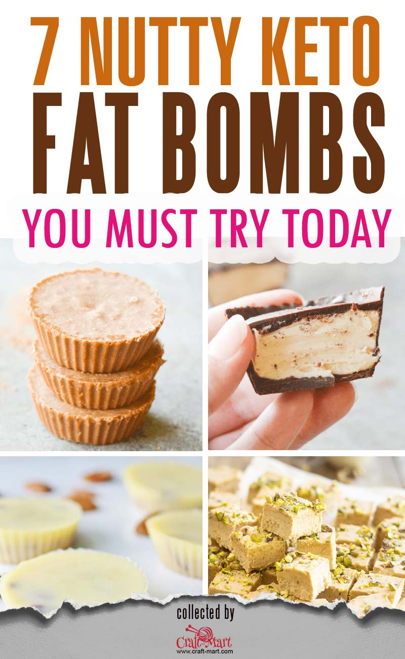 Keto Nutty Fat Bombs (and ultimate collection of 54 keto snacks) #ketofatbombs #ketodiet #easyfatbombrecipes #bestfatbombrecipes #highfatlowcarbsnacks #lowcarbsnack #ketosnack #peanutbutterfatbomb #ALMONDBUTTERFATBOMBS