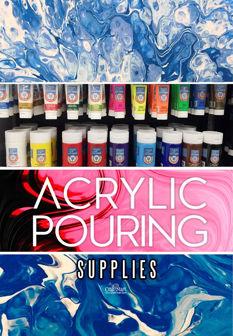 A list of the Basic Art Supplies You Need to Get Started With Acrylic Pour Painting. Acrylic pouring starter kit could be the best Christmas gift idea! Acrylic pouring is the new page coloring but more exciting! #acrylicpainting #wallart #diyhomedecor #painting