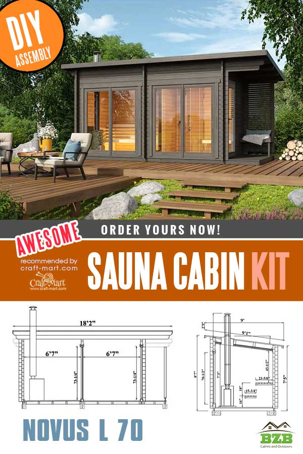 Sauna Cabin Kit Novus L 70 plan