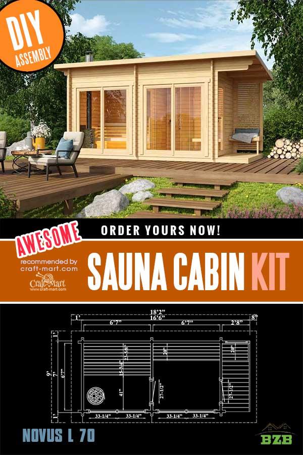 DIY Sauna Cabin Kit Novus L 70