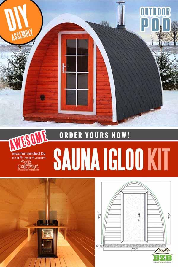 Outdoor POD Sauna Igloo Kit 40