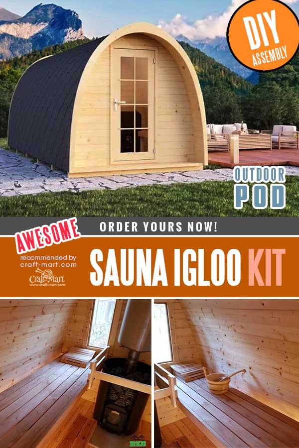 Outdoor Sauna Kit - Igloo 40