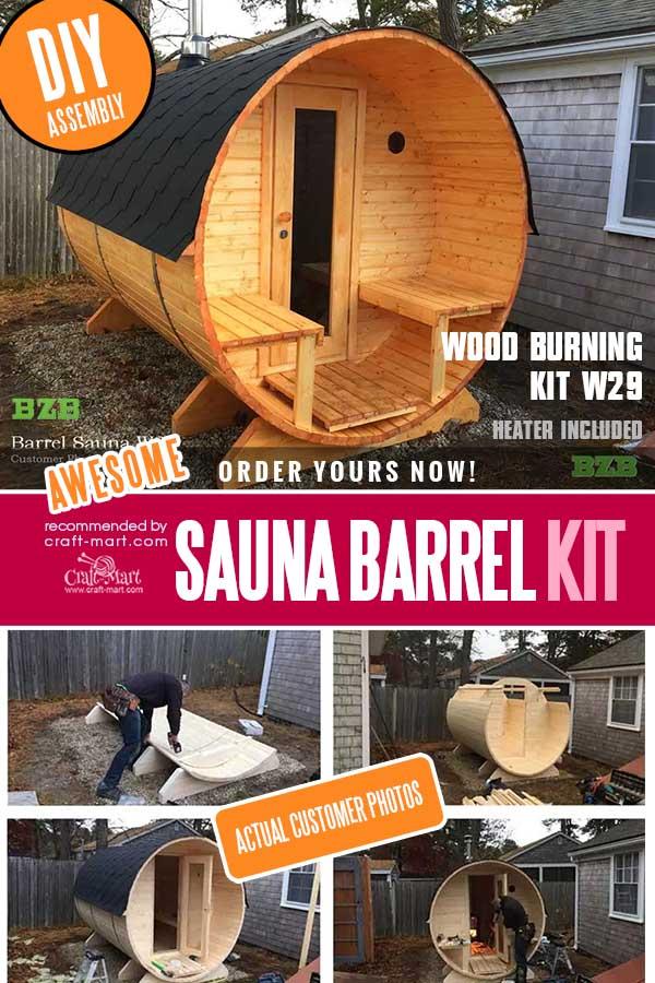 DIY Barrel Sauna Kit