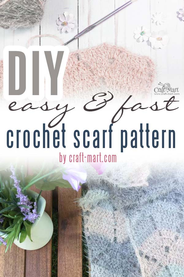 easy crochet scarf patterns: Fall Leaves scarf made with Caron latte cakes yarn