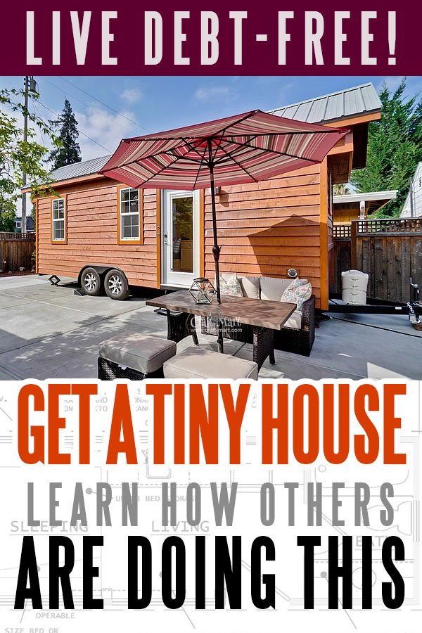"These tiny houses can really be the way to live debt-free. Even if you can't afford to buy one for cash imagine paying only $195/m! Forbes Magazine called them ""The Most Beautiful Tiny Houses In The World"". Why do you need the burden of huge mortgages and property taxes? #tinyhouse #tinyhouseplans #minimalism"