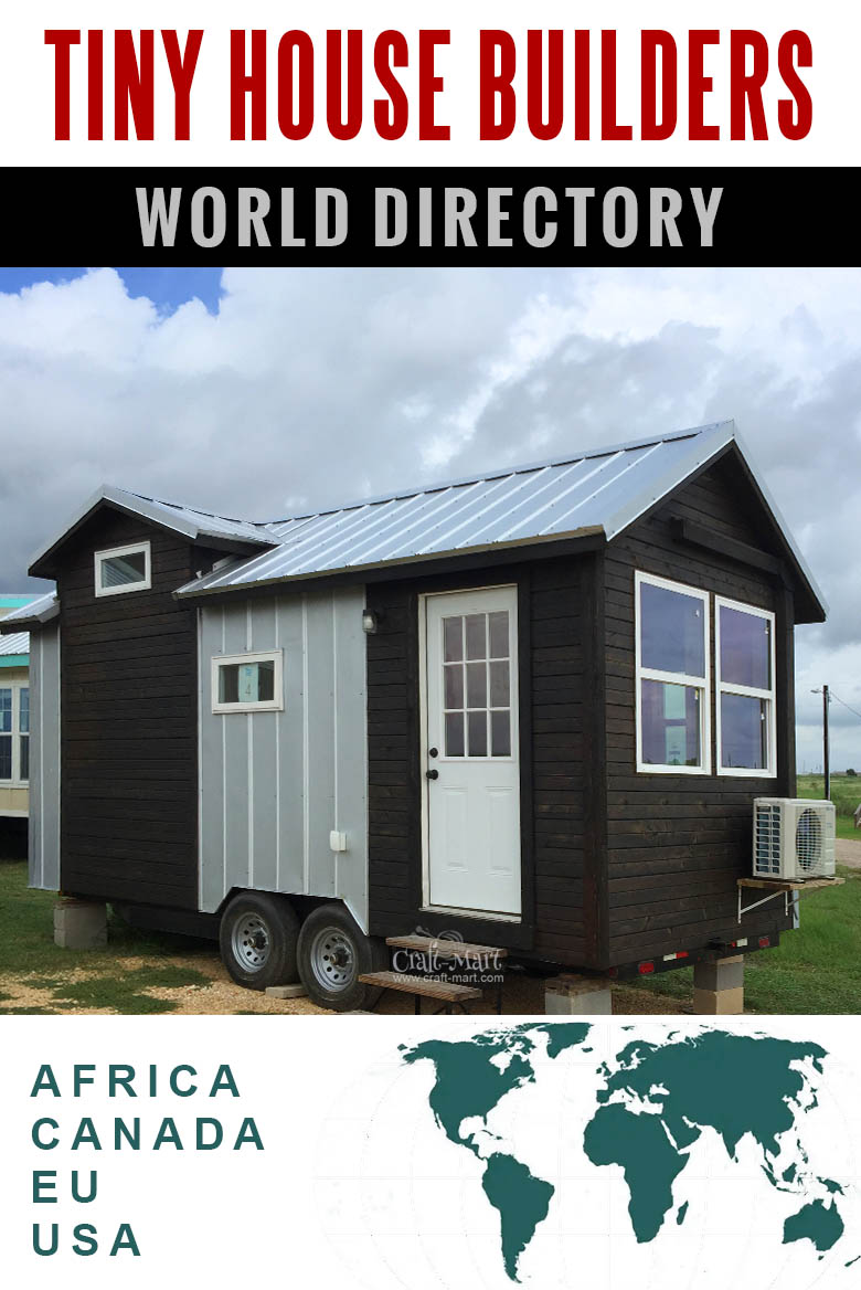 tiny home builders world directory: USA, Canada, EU, Africa