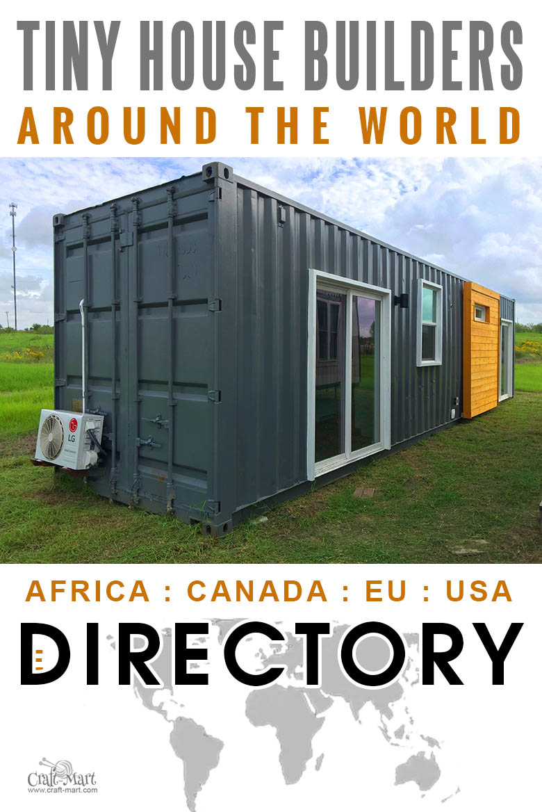 small and tiny house builders directory around the world from USA and Canada to EU and Africa