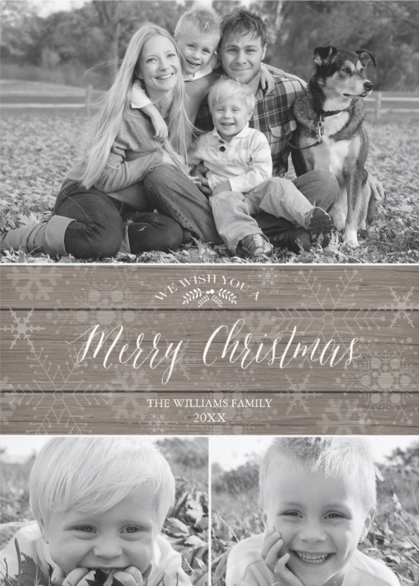 Rustic Photo Card Templates - Christmas Cards Ideas to Cheer Up your Family and Friends