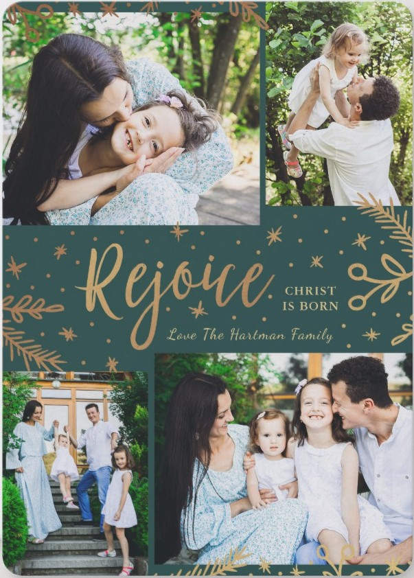 """Year-In-Review"" Christmas Photo Card Ideas"
