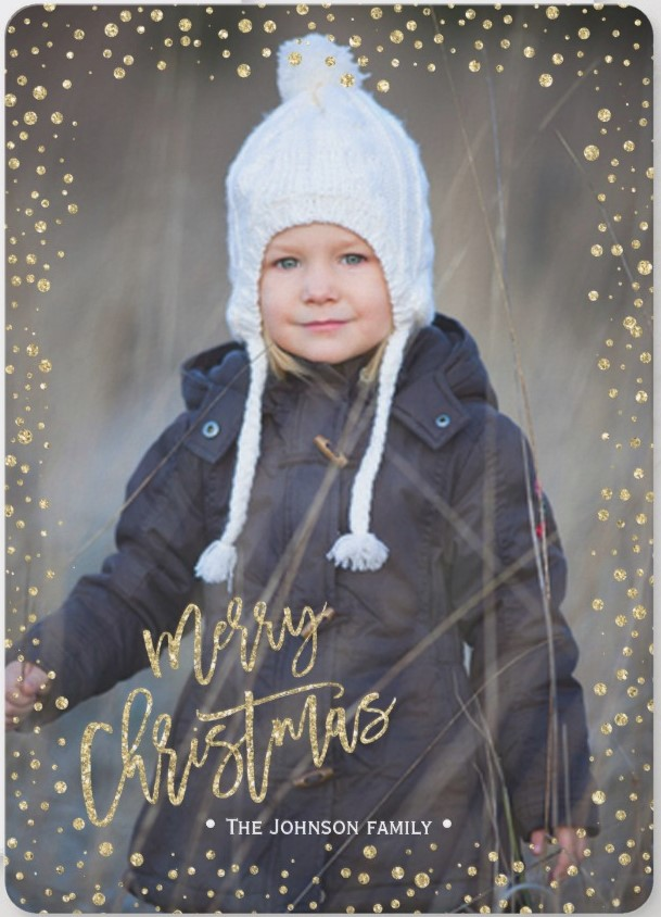 """Merry & Bright"" Simple Christma Family Portrait Photos - Christmas Cards Ideas to Cheer Up your Family and Friends"