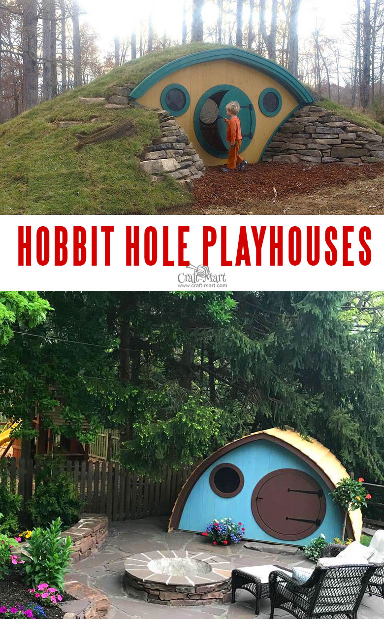 Hobbit Hole Playhouse for older kids and adults.