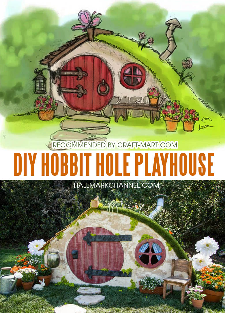 One of the most adorable DIY Hobbit houses that you can build by following easy instructions.