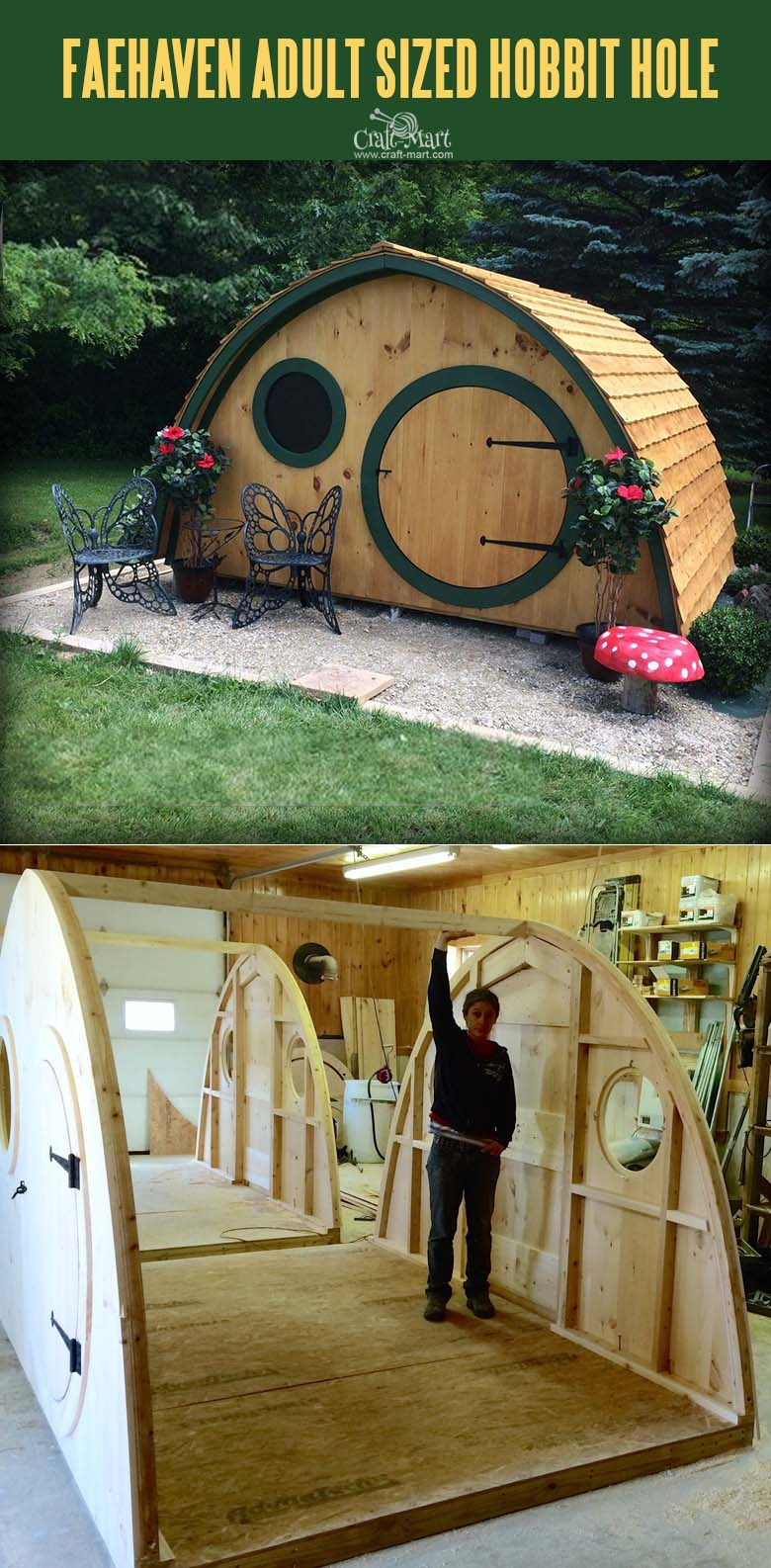 Faehaven Adult Sized Multi-Use Hobbit Hole House.