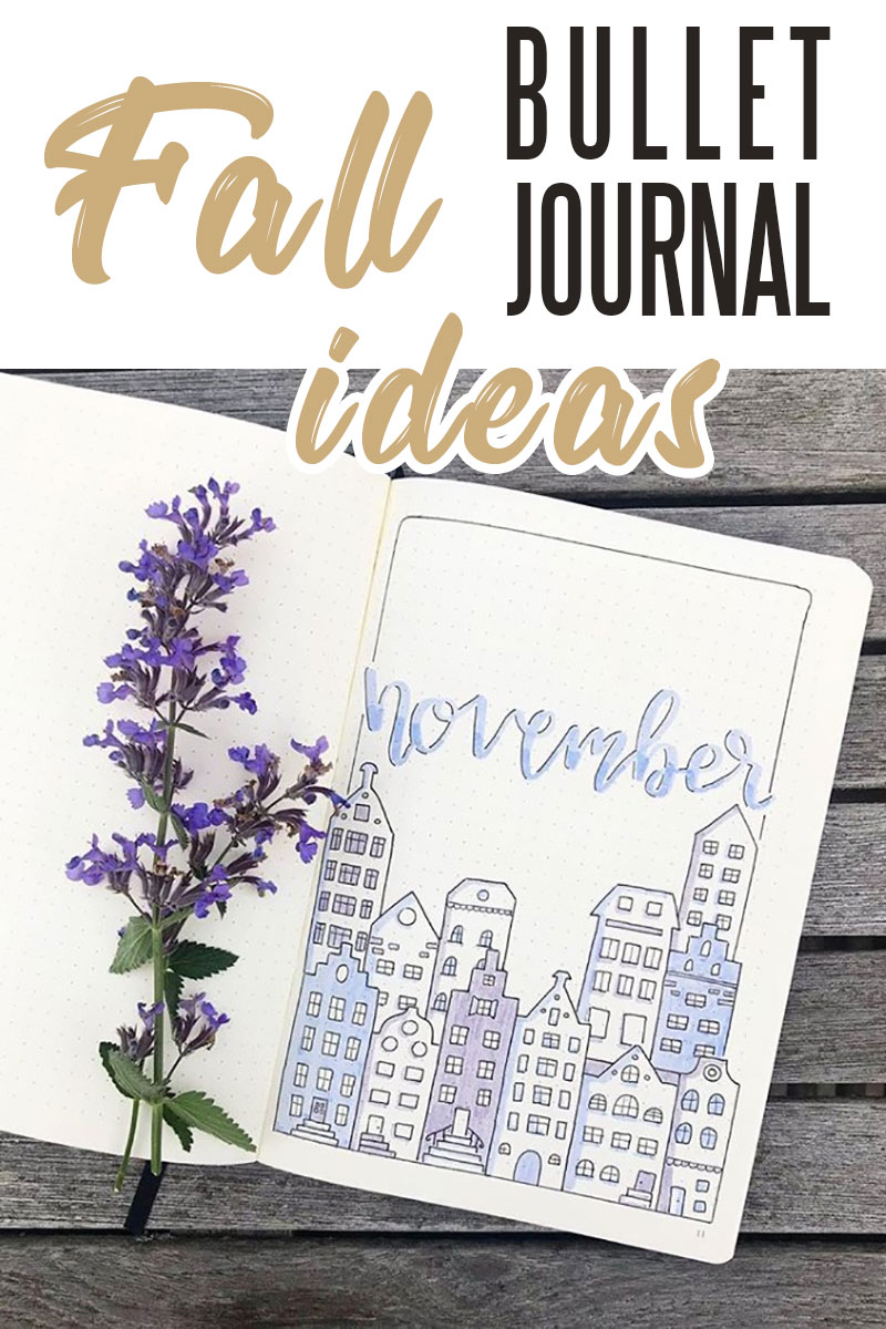 Fall bullet journal page ideas - fall doodles #fallbujo #bulletjournal