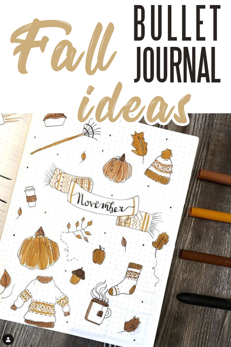 Fall bullet journal page ideas and doodles - fall doodles #fallbujo #bulletjournal