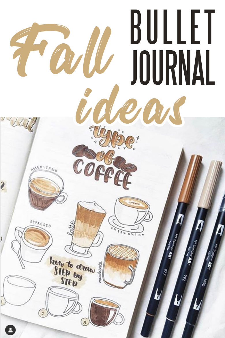 Fall bullet journal examples and ideas - fall doodles #fallbujo #bulletjournal