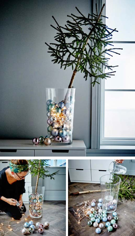 Homemade Christmas Decoration Ideas - minimalistic holiday decor, tree in a vase, cmas decorations, handmade Christmas decorations, christmas decoration ideas diy, outdoor christmas decoration ideas, #christmasdecorationideas
