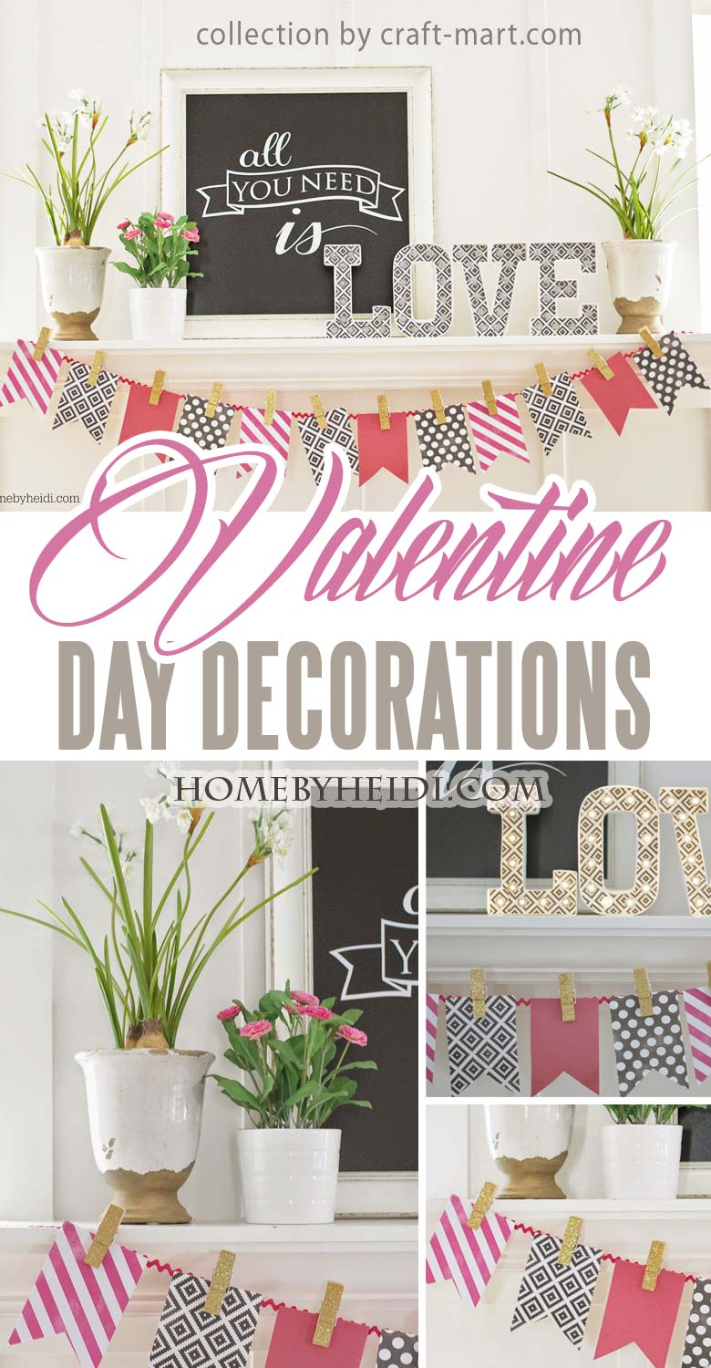 All You Need Is Love Easy Valentine Day Mantel Decor recommended by craft-mart.com homemade valentine decorations, valentines day decor diy, valentines day ideas, valentine decorations ideas, valentine mantel decor, dollar tree valentine decor #valentineDIY, #valentinedecorDIY