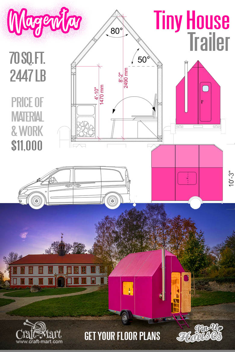 Magenta Tiny House Trailer
