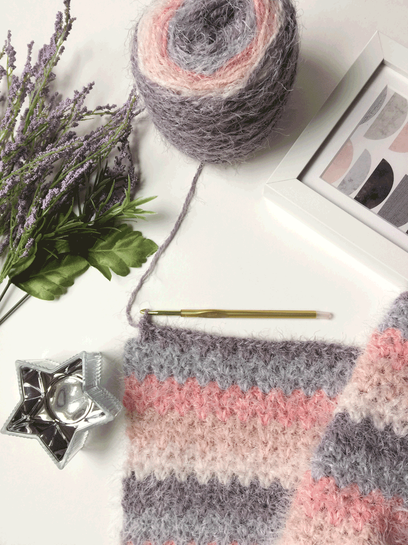 How to Crochet a Blanket using V-Stitch step by step tutorial