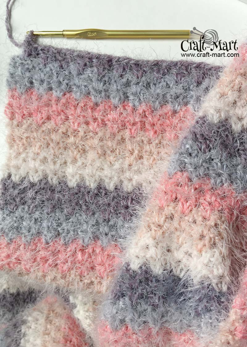How To Crochet A Blanket Using V Stitch Step By Step Tutorial Craft Mart