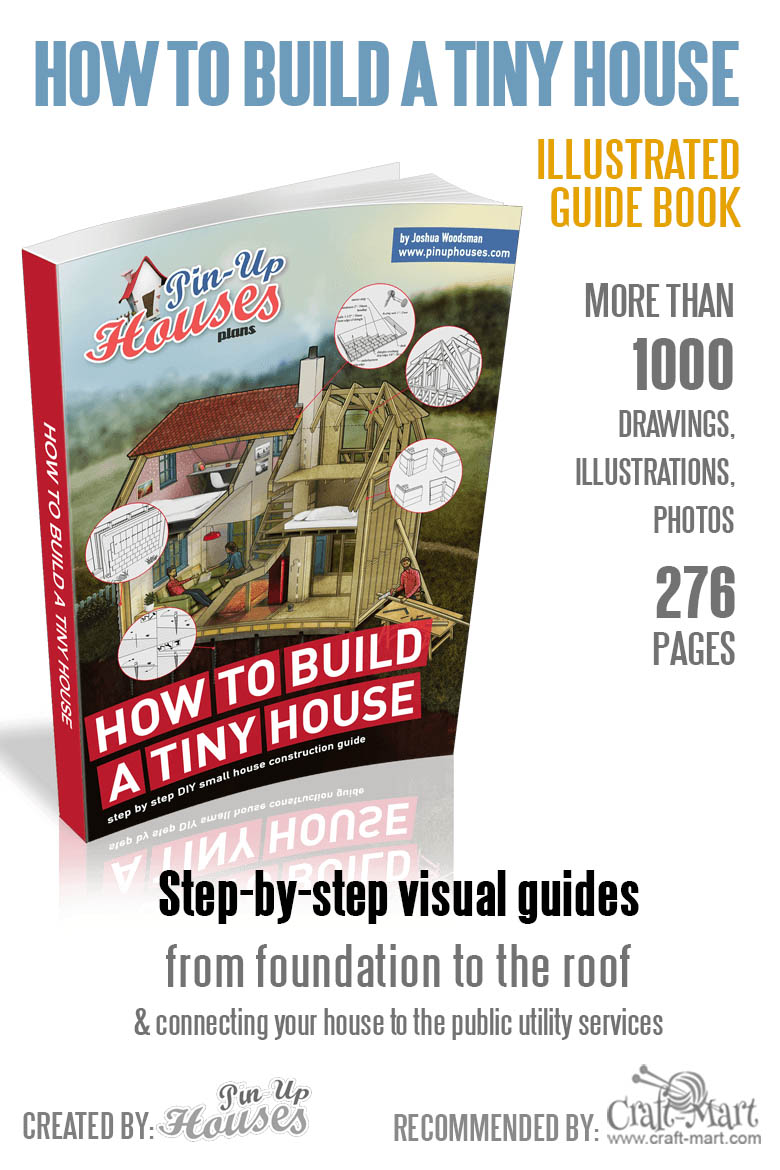 How to Build a Tiny House book with Over 1000 illustrations and 276 pages of step-by-step instructions. Learn how to fix things in your small house and how to choose the most suitable material for building your small house #tinyhouse