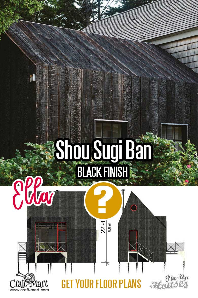 Shou Sugi Ban technique example for small home siding