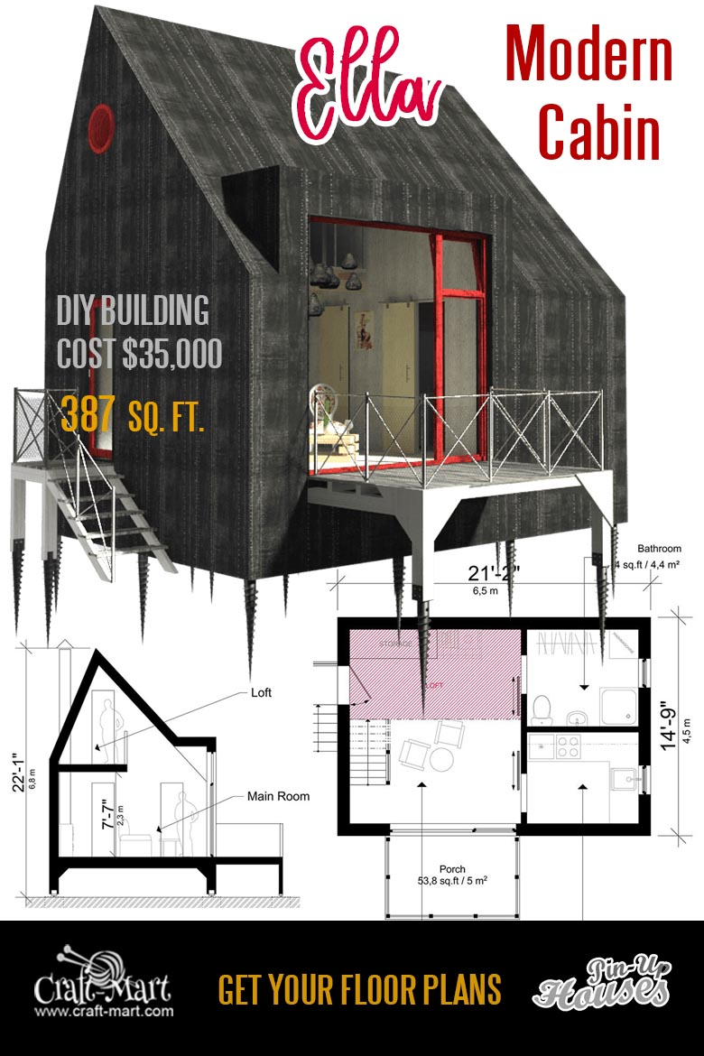 "unique small house plans ""Ella"""