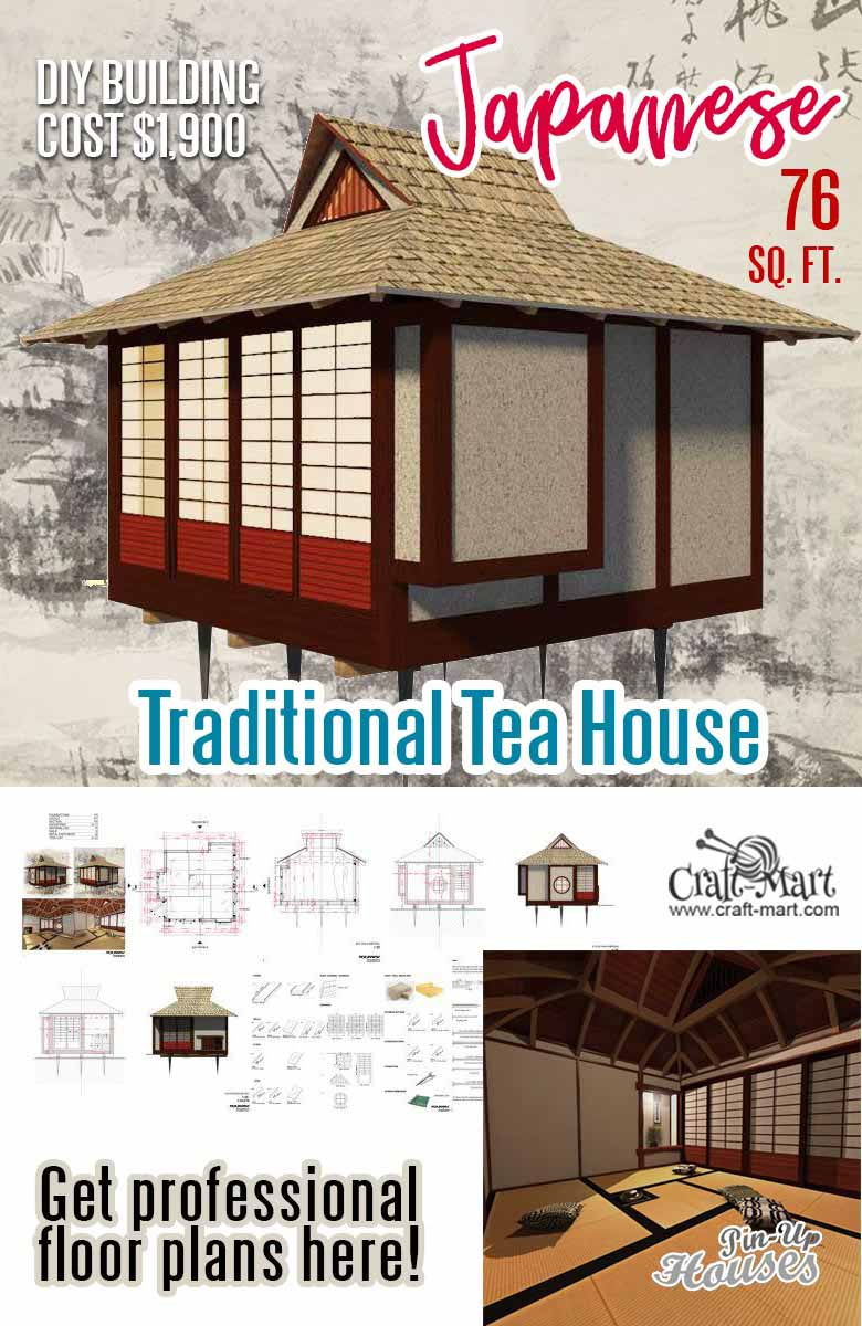 Small Japanese tea house floor plans