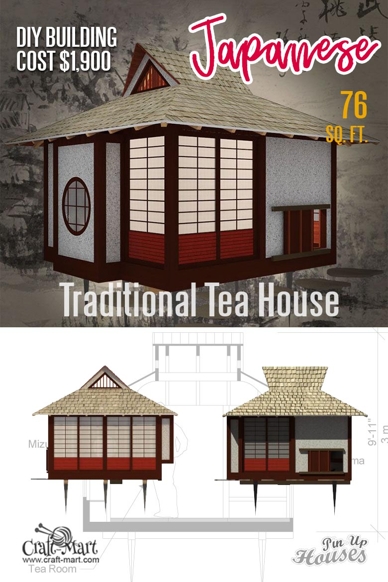 Japanese small tea house floor plans