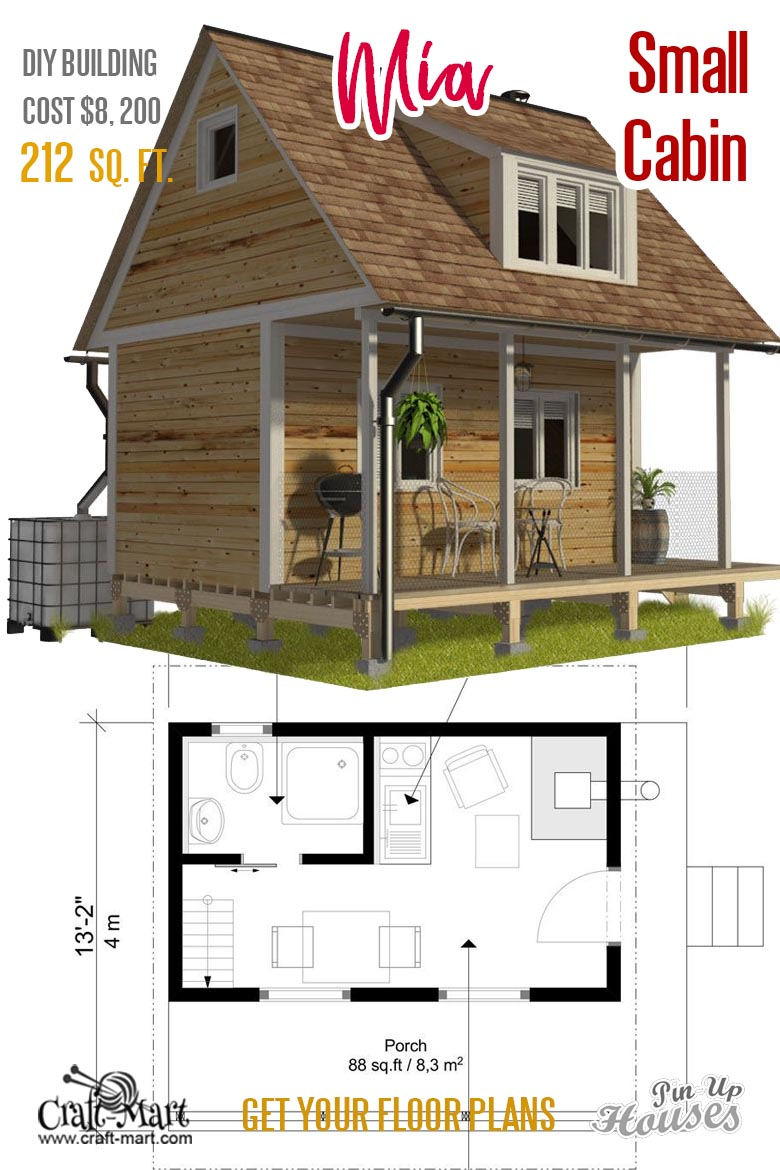 Small unique house plans (A-frames, small cabins, sheds) - Craft-Mart