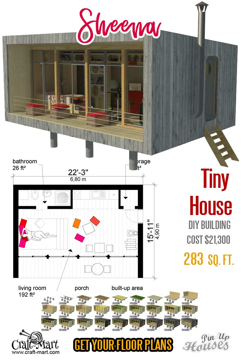"Tiny House Plans ""Sheena"""