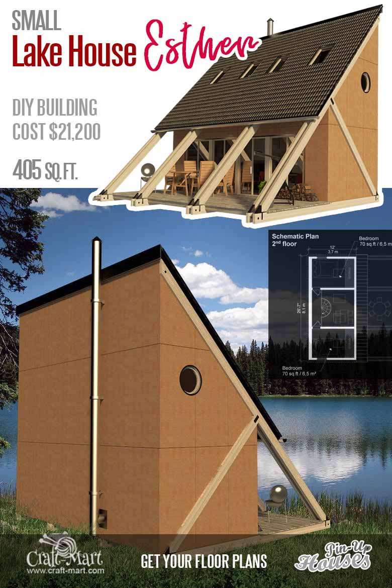 Cute Small Cabin Plans (A-Frame Tiny House Plans, Cottages, Containers) -  Craft-Mart