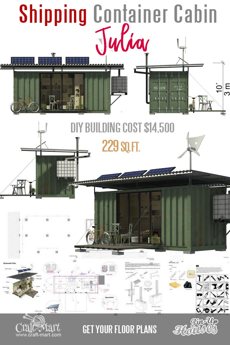 Read about dangers of living in a shipping container! Shipping containers made out of solid metal act pretty close as Faraday cage shielding inside from the electromagnetic fields. #tinyhouse