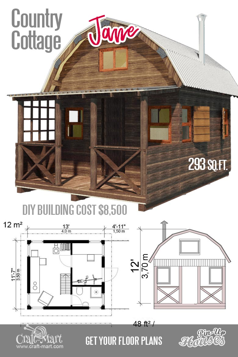 Small Log Cabin Kit Homes Small Log Cabin Floor Plans: Cute Small House Floor Plans (A-Frame Homes, Cabins