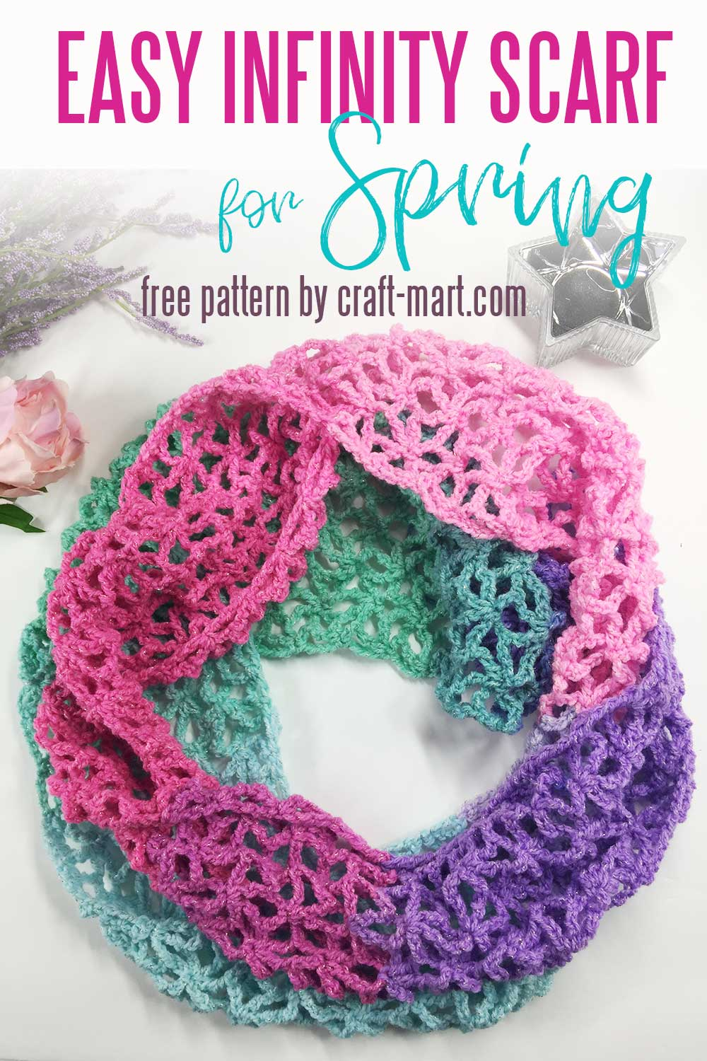 Easy Infinity Scarf for Spring